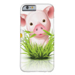 Little pink pig in grass barely there iPhone 6 case