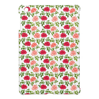 Little Pink Red Tea Roses iPad Mini Case