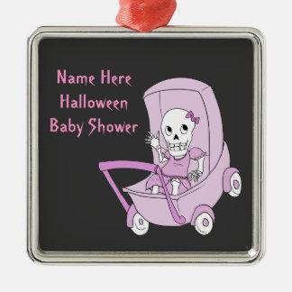 Little Pink Skeleton Baby Shower Keepsake Ornament