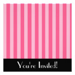 Little Pink Stripes Invitation