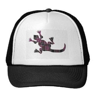 little pink tartan gekko lizard mesh hats