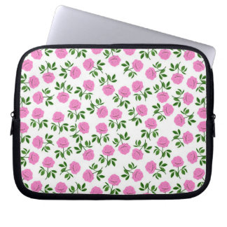 Little Pink Tea Roses Electronics Bag Laptop Computer Sleeves