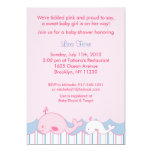 """Little Pink Whale Baby Shower Invitations 5"""" X 7"""" Invitation Card"""