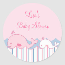 Little Pink Whale Envelope Seals Stickers
