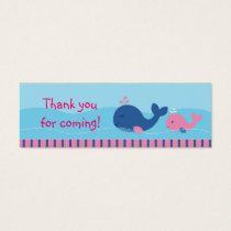 Little Pink Whale Goodie Bag Tags Gift Tags