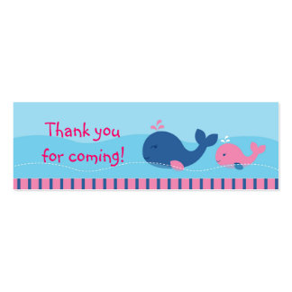 Little Pink Whale Goodie Bag Tags Gift Tags Business Card Template