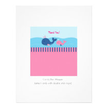 Little Pink Whale Personalized Candy Bar Wrappers