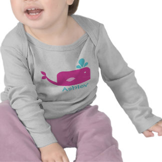 Little Pink Whale Personalized Tshirt