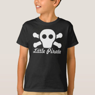 Little Pirate - Black Shirt with Cute Scull