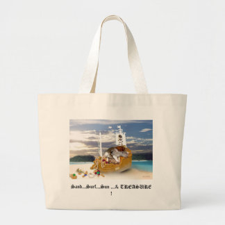 Little Pirate Rat Beach Tote Canvas Bag