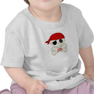 Little Pirate Skull and Crossbones Kids T-shirt