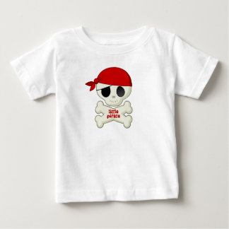 Little Pirate Skull and Crossbones Kids T-shirt