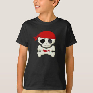 Little Pirate Skull and Crossbones T-shirt