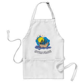 Little pirate toddler on a sailboat on the sea adult apron