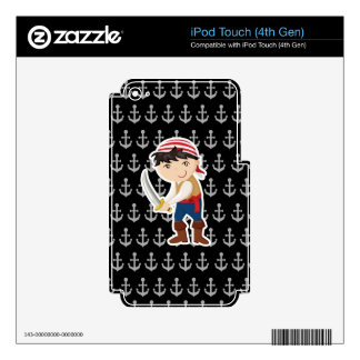 Little pirate with anchor decal for iPod touch 4G