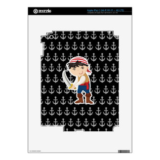 Little pirate with anchor iPad 3 decals
