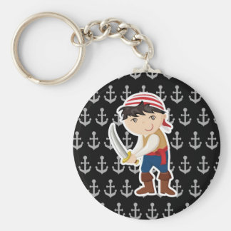 Little pirate with anchor keychain