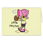 Little Pitcher Girls Baseball Tshirts and Gifts Cards
