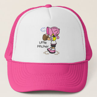 Little Pitcher Girls Baseball Tshirts and Gifts Trucker Hat