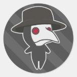 Little Plague Doctor Round Sticker