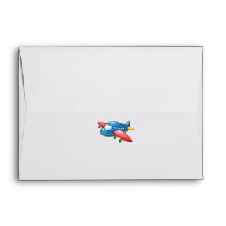 Little Plane in Clouds 1st Birthday Envelope
