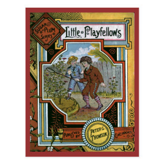 """Little Playfellows"" Vintage Book Cover Postcard"
