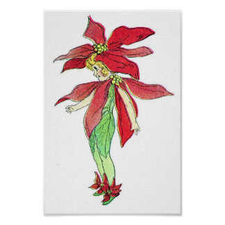 Little Poinsettia Posters