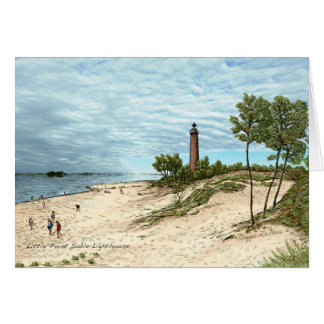 Little Point Sable Lighthouse Greeting Cards