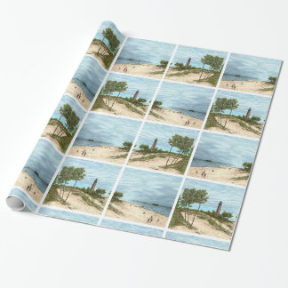 Little Point Sable Lighthouse Wrapping Paper