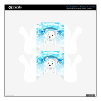 Little polar bear sitting on ice PS3 controller decal