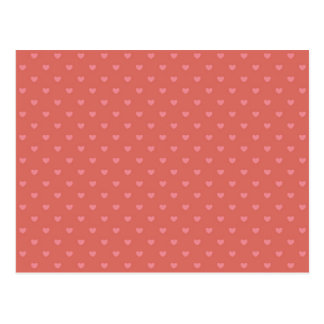 Little Polka Dot Hearts Pink and Red Print Patten Postcard