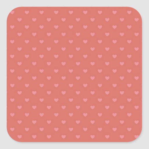 Little Polka Dot Hearts Pink and Red Print Patten Sticker