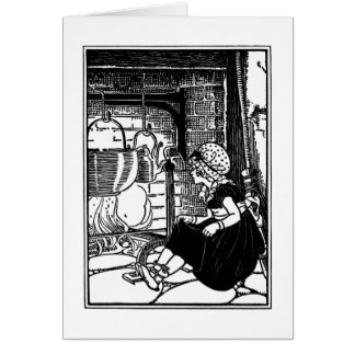 Little Polly Flinders Nursery Rhyme Card