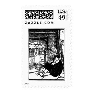Little Polly Flinders Nursery Rhyme Stamp