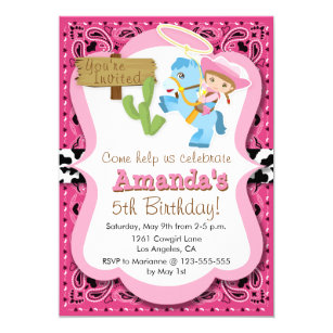 Cowgirl Party Invitations Zazzle