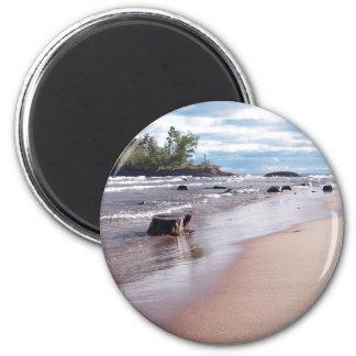 Little Presque Isle 2 Inch Round Magnet