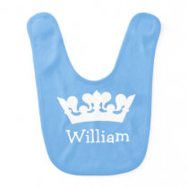 Little Prince Baby Blue Bib