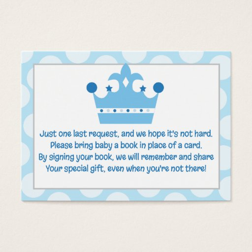 Little Prince Baby Enclosure Book Request Card
