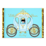 Little Prince Baby Shower Blue Gold Boy Carriage Custom Invites