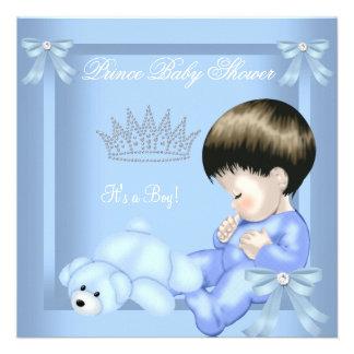 Little Prince Baby Shower Boy Blue Toy Bear Invites