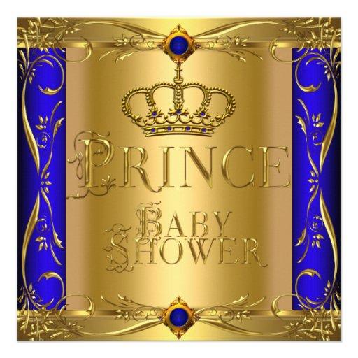 little prince baby shower boy regal blue crown 9 square