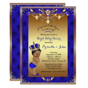Royal baby shower invitations zazzle little prince baby shower invitation royal blue invitation filmwisefo