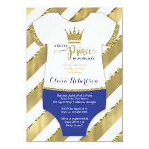 Little prince baby shower invitations announcements zazzle little prince baby shower invite faux glitter card filmwisefo Gallery