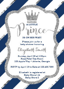 Little prince baby shower invitations zazzle little prince baby shower invite faux glitter invitation filmwisefo