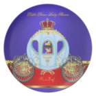 Little Prince Baby Shower Red Blue Gold Boy 2 Plate