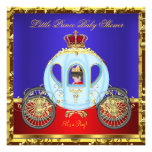 Little Prince Baby Shower Red Blue Gold Boy Custom Invitations