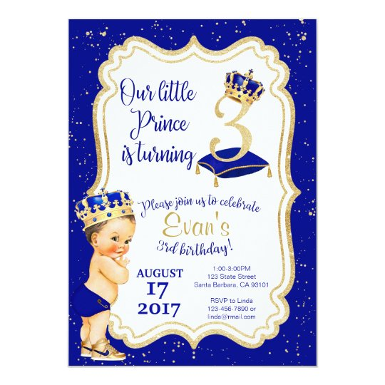 Little Prince Birthday Invitation 3rd Birthday Invitation Zazzle Com