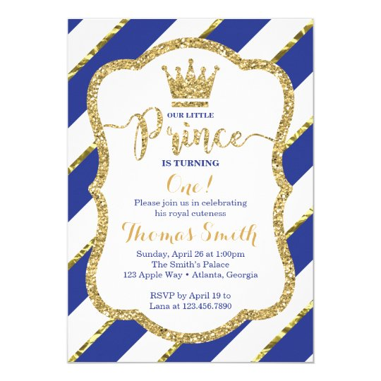 Little prince birthday invitation in blue gold zazzle little prince birthday invitation in blue gold filmwisefo