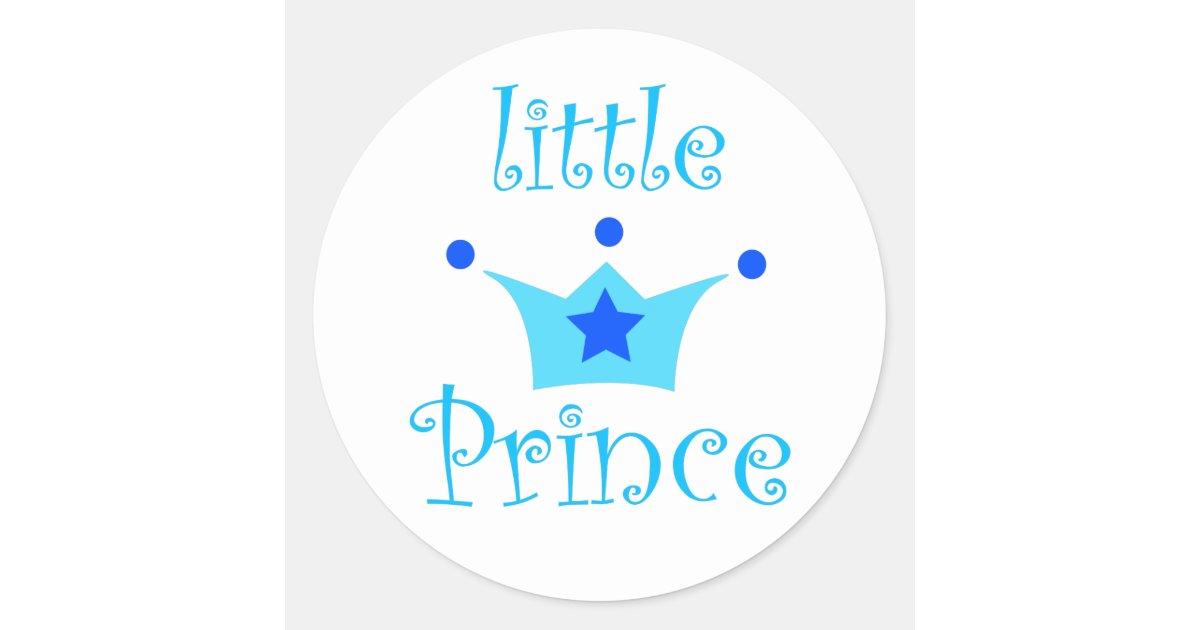 little prince classic round sticker zazzle. Black Bedroom Furniture Sets. Home Design Ideas