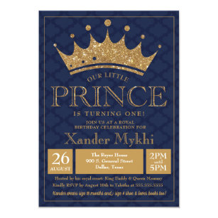 Little Prince Birthday Invitations Announcements Zazzle